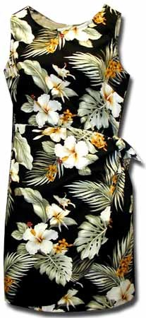 313-2820 Black Pacific Legend Ladies Sarong Dress