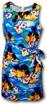 313-3104 Blue Pacific Legend Ladies Sarong Dress