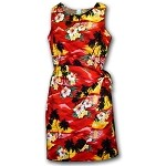 313-3104 Red Pacific Legend Ladies Sarong Dress