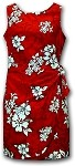 313-3156 Red Pacific Legend Ladies Sarong Dress