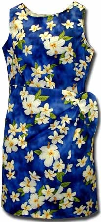 313-3236 Blue Pacific Legend Ladies Sarong Dress