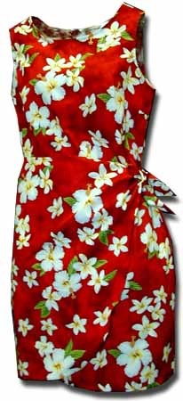 313-3236 Red Pacific Legend Ladies Sarong Dress