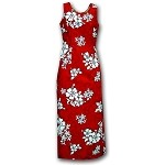 321-3156 Red Pacific Legend Long Tank Dress