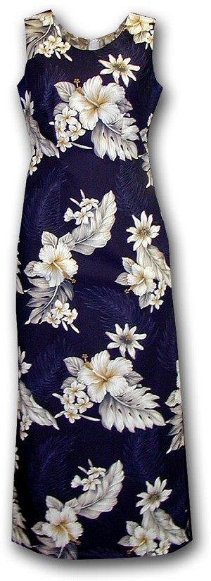 321-3162 Navy Pacific Legend Long Tank Dress
