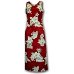 321-3162 Red Pacific Legend Long Tank Dress