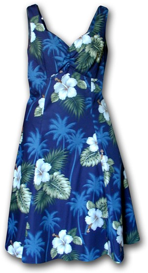 330-2798 Navy Pacific Legend Ladies Sun Dress