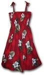 332-2798 Red Pacific Legend Tube Dress