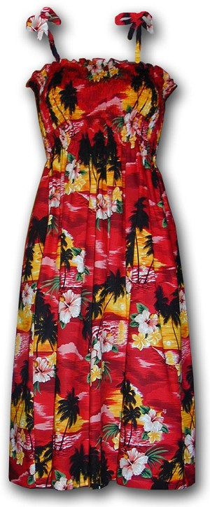 332-3104 Red Pacific Legend Tube Dress