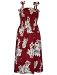 332-3162 Red Pacific Legend Tube Dress