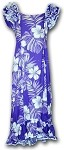 334-3589 Purple Pacific Legend Long Ruffle Muumuu