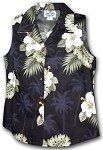 342-2798 Black Pacific Legend Ladies Sleeveless Shirt
