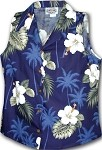 342-2798 Navy Pacific Legend Ladies Sleeveless Shirt