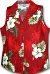 342-2798 Red Pacific Legend Ladies Sleeveless Shirt