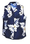 342-3162 Navy Pacific Legend Ladies Sleeveless Shirt