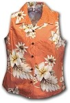 342-3162 Peach Pacific Legend Ladies Sleeveless Shirt