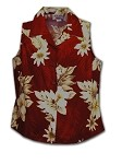 342-3162 Red Pacific Legend Ladies Sleeveless Shirt