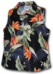 342-3470 Black Pacific Legend Ladies Sleeveless Shirt