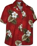 346-2798 Red Pacific Legend Women's Camp Shirt