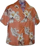346-3162 Peach Pacific Legend Women's Camp Shirt