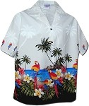 346-3468 White Pacific Legend Women's Camp Shirt