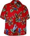 346-3531 Red Pacific Legend Women's Camp Shirt