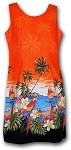 360-3468 Orange Pacific Legend Border Tank Dress