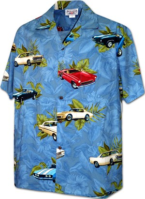 410-3882 Denim Men's Hawaiian Shirts