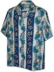 410-2750 Blue Men's Hawaiian Shirts