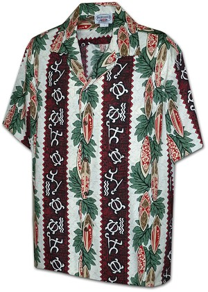 410-2750 Red Men's Hawaiian Shirts
