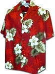 410-2798 Red Men's Hawaiian Shirts
