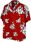 410-3156 Red Men's Hawaiian Shirts