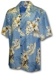 410-3162 Blue Men's Hawaiian Shirts