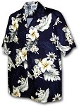 410-3162 Navy Men's Hawaiian Shirts