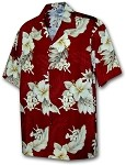 410-3162 Red Men's Hawaiian Shirts