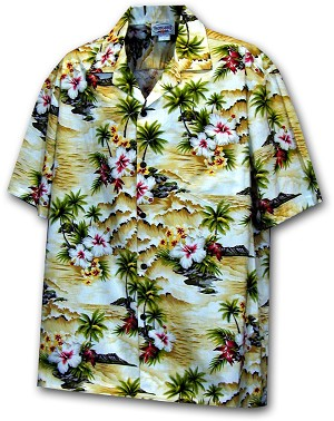 410-3238 Maize Men's Hawaiian Shirts