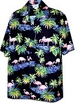 410-3416 Black Men's Hawaiian Shirts