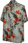 410-3470 Cream Men's Hawaiian Shirts