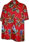 410-3531 Red Men's Hawaiian Shirts