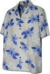 410-3551 Blue Men's Hawaiian Shirts