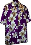 410-3559 Purple Men's Hawaiian Shirts