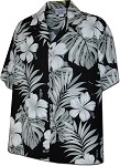 410-3589 Black Men's Hawaiian Shirts