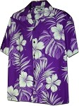 410-3589 Purple Men's Hawaiian Shirts