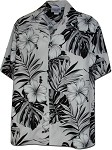 410-3589 White Men's Hawaiian Shirts
