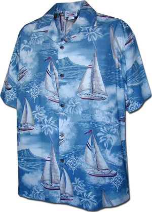 410-3610 Slate Men's Hawaiian Shirts