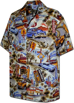 410-3644 Sand Men's Hawaiian Shirts