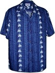 410-3662 Navy Men's Hawaiian Shirts