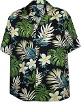 410-3688 Black Men's Hawaiian Shirts