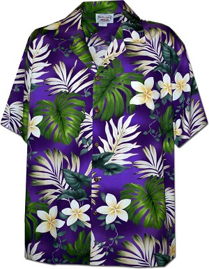 410-3688 Purple Men's Hawaiian Shirts