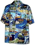 410-3719 Navy Men's Hawaiian Shirts