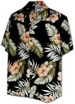 410-3743 Black Men's Hawaiian Shirts